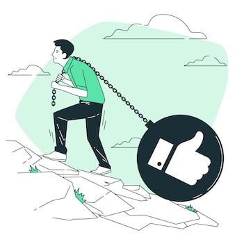 Sociale belasting concept illustratie