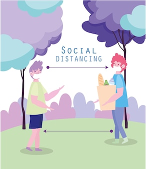 Sociale bescherming tegen afstand