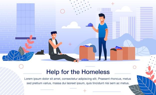 Sociale hulp voor daklozen