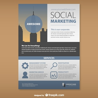 Sociale marketing mock-up set