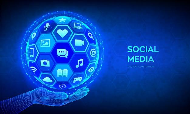 Sociale media achtergrond