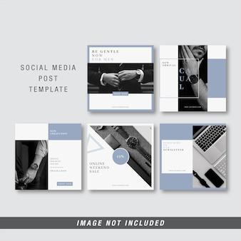 Sociale media berichtsjabloon