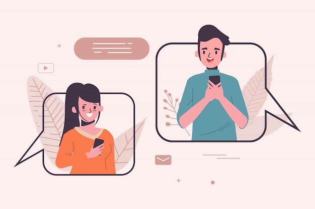Sociale media concept illustratie. communicatie
