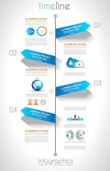 Sociale media en cloud concept infographic