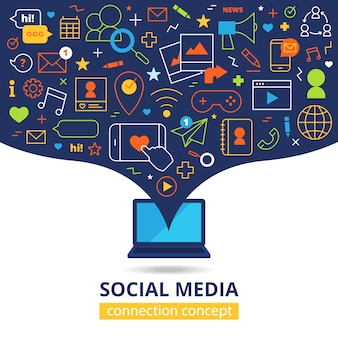 Sociale media illustratie