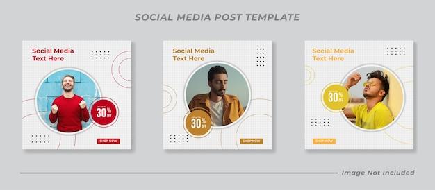 Sociale media instagram postsjabloonverzameling
