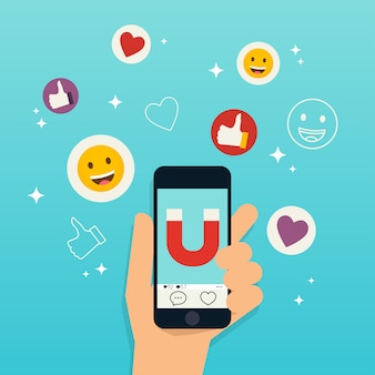 Sociale media marketingconcept