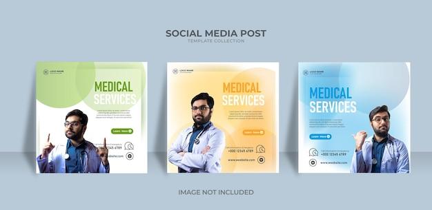 Sociale media medische dienst post medisch gezond