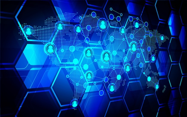 Sociale media netwerk cyber toekomstige technologie