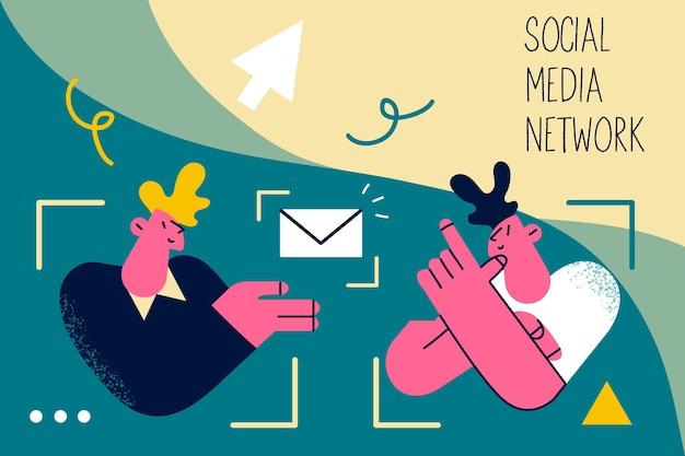 Sociale media netwerktechnologie communicatie