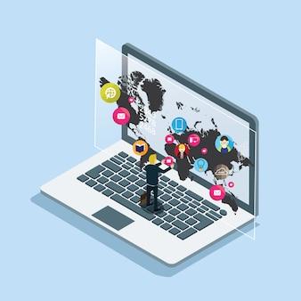 Sociale media over de hele wereld