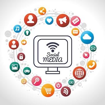 Sociale media pc delen van sociale media