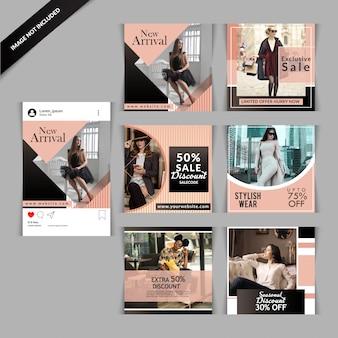 Sociale media plaatsen templatess