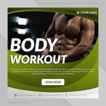 Sociale media post gym club sjabloon