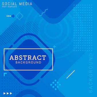 Sociale media post sjabloon abstracte achtergrond