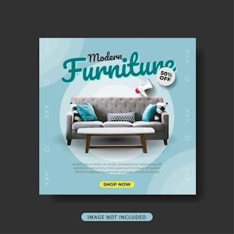 Sociale media post sjabloon meubels verkoop promotie banner