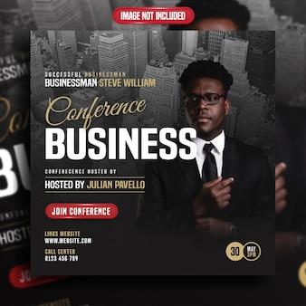 Sociale media post van zakenman