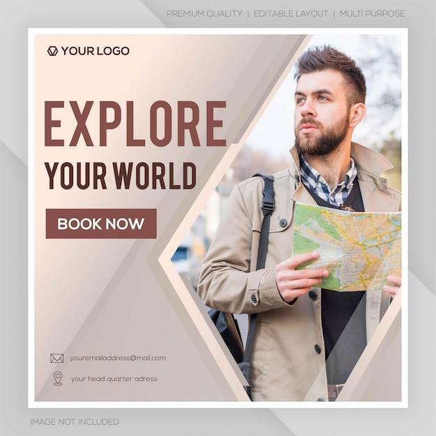 Sociale media reisbanner