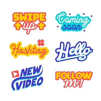Sociale media slang bubble pack concept