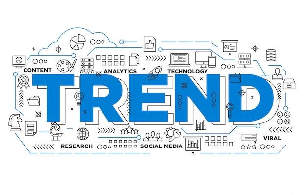 Sociale media trending iconische achtergrond