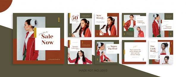Sociale media verkoop feed post bundel kit sjabloon