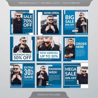 Sociale media verkoop feed post sjabloon