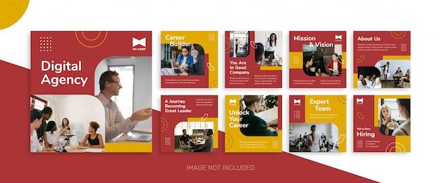Sociale media verkoop zakelijke post bundel kit sjabloon Premium Vector