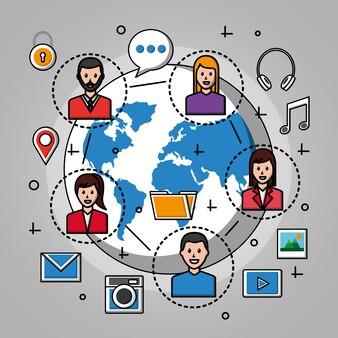Sociale media wereld