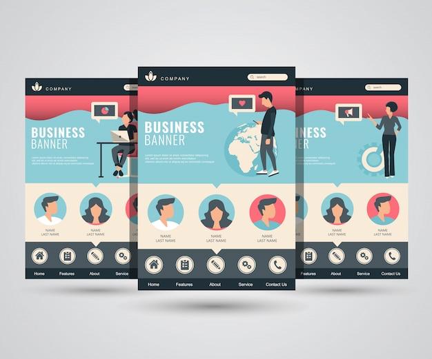 Sociale netwerk-, marketing- en zakelijke bestemmingspagina's