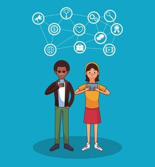 Sociale netwerken concept