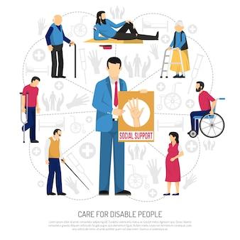 Sociale ondersteuning voor mensen met een handicap samenstelling