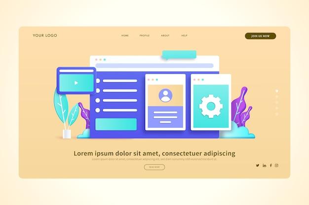 Sociale online interactie 3d concepten bestemmingspagina