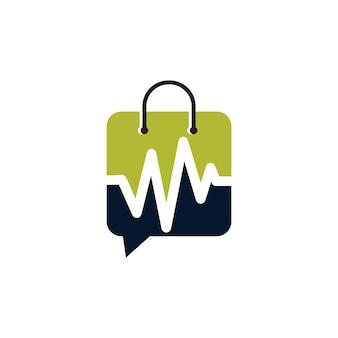 Sociale winkel logo ontwerpsjabloon