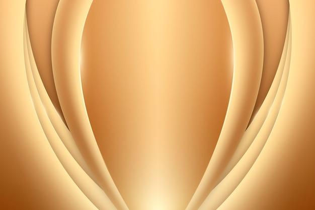 Soepele gouden golf achtergrond
