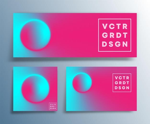 Soepele kleurovergang textuur ontwerp voor flyer