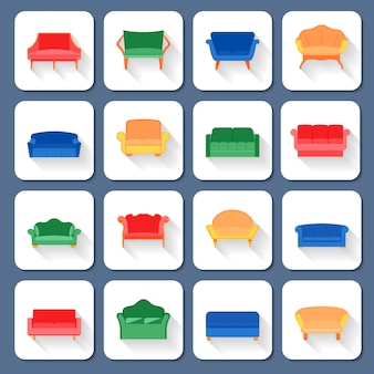 Sofa pictogrammen plat