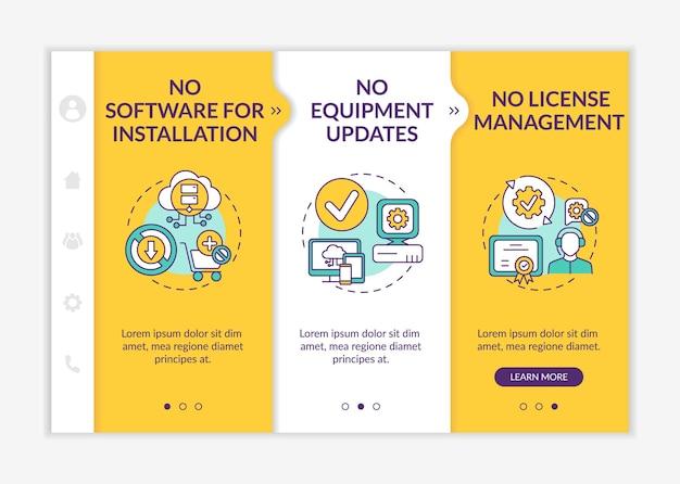 Software als service voordelen onboarding-sjabloon