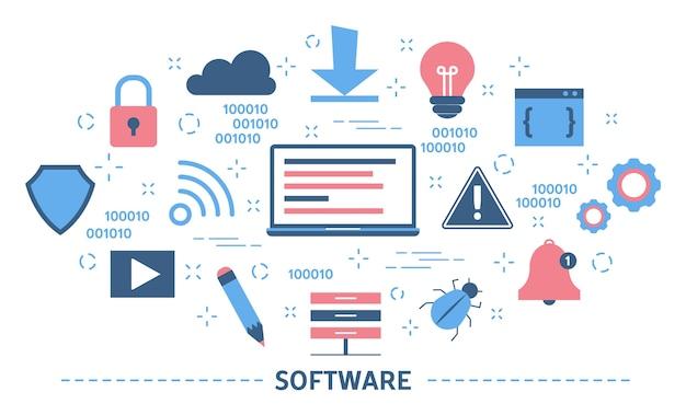 Software concept. idee van programmeren en coderen