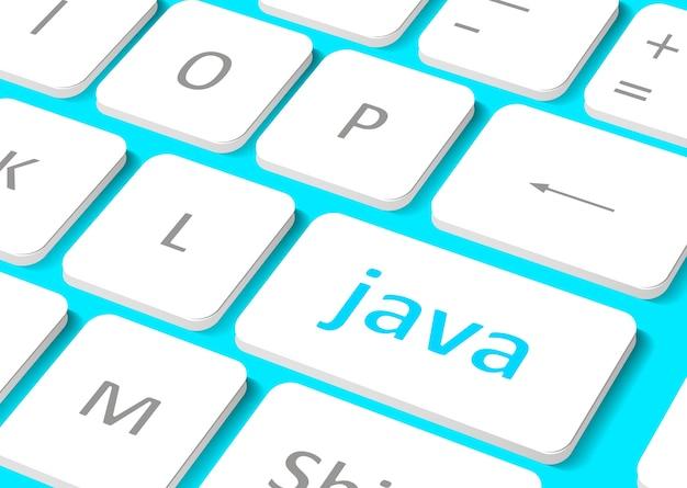 Software concept. knop java op computertoetsenbord.
