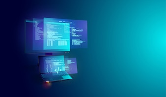 Software en programma-ontwikkeling op laptop en pc