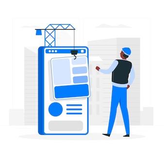 Software engineer concept illustratie
