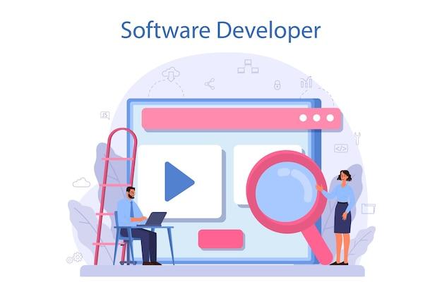 Software ontwikkelaar concept