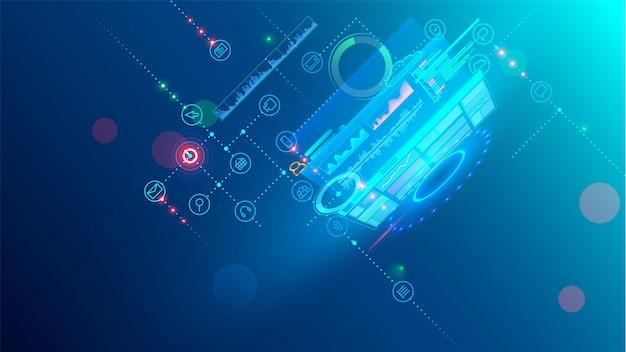 Software ontwikkeling coderingsproces concept. programmering, testen platformoverschrijdend