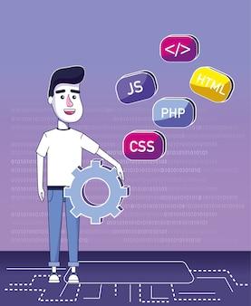 Software programmeur cartoon