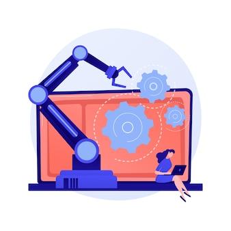 Software voor marketingautomatisering en crm. webgebaseerde oplossingen, klantrelatiebeheer, digitale handel. klantervaring beheer concept illustratie
