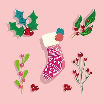 Sok holly berry kerstviering en decoratie