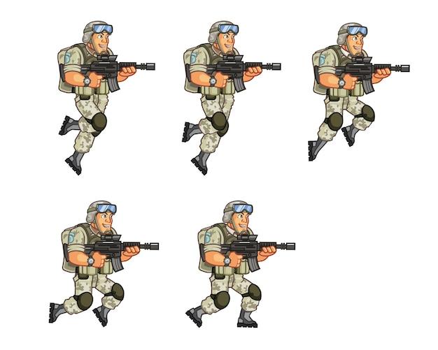 Soldaat game karakteranimatie