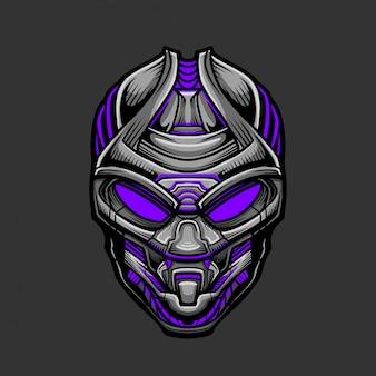 Soldaatmasker 9 vectorillustratie