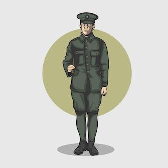Soldaten die er sadistisch en woest uitzien