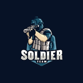 Soldier esports logo gaming